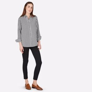 Everlane Relaxed Silk Shirt Striped